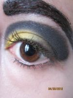 bumblebee makeup by InkIsMyPassion