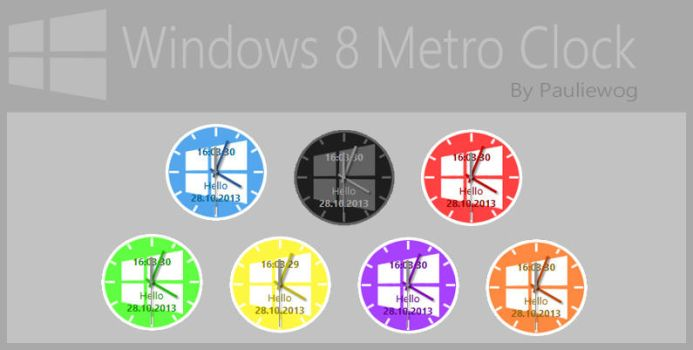 Windows 8 Metro Clock by pauliewog260