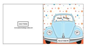 Father's Day Card - Beetle Car by wflead