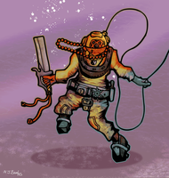 Yellow Diver Ninja by Cique