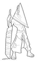 Kisame- Pyramid Head WIP by AstroZerk