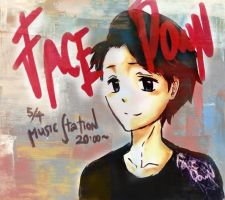 Face Down Music Station by xmeltedxazukix