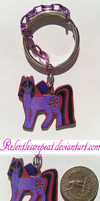 Twilight Sparkle Keychain by RelentlessRepeat