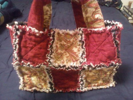 New rag quilt purse by PattyJean