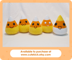 Candy Corn Plushies by cutekick