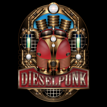 Dieselpunk Label III the red One by IllustratorG