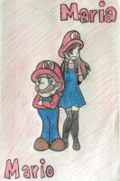 Mario and Maria by StarryRosieArtist