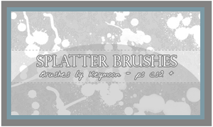 Splatter Brushes Set by KeyMoon