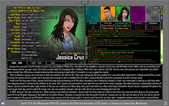 [Earth-27: Oracle Files] Jessica Cruz (Pg. 1/3) by Roysovitch