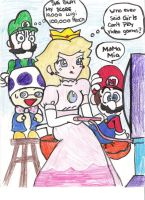 Peach Is Beating Lugi's Score by Wundergurl
