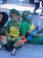 Ninja Turtles on Break AX 2011 by MidnightLiger0