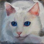 White Cat Head by tuolumney