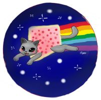 Nyan Cat Button 2 by Lizzichu