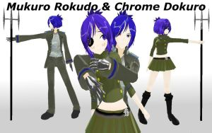 MMD Chrome And Mukuro + DL by PrincessSushiCat