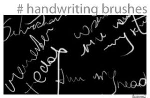 Handwriting brushes by thaispm2