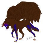 Tribal wolf -closed- by masquerade-adoptable