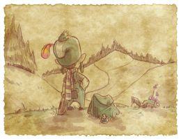 Thomas the Leap Year sketching Elf 6 by D-Gee