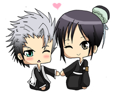 Commission Hitsugaya x Momo by Haoiki