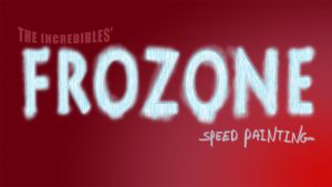 Frozone speed painting title card/ thumbnail by IDROIDMONKEY