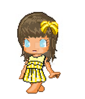 Straight Face Simple Yello For Devi by XfantagelizzyX