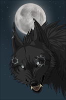 Dark Wolf by DakotaW-Wolf