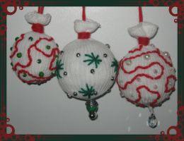 Sock X-Mas Tree Decorations by DarkDollArt