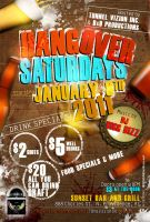 Hangover Saturdays Flyer by AnotherBcreation