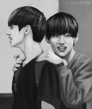Vkook by getyourdragon