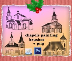 Chapels Painting Brushes by roula33