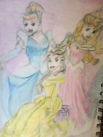 disney princesses by evildollie