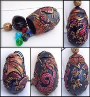 Dragon Egg Dice Holder- Any Color by Namingway