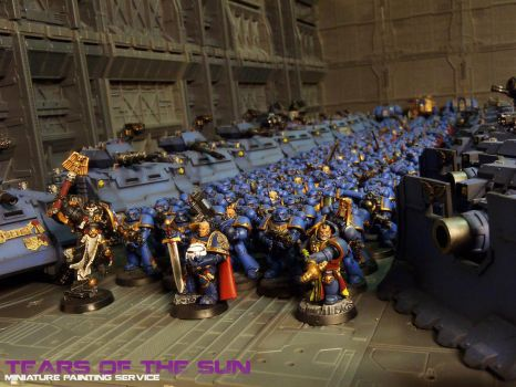 Ultramarines Space Marines by DeathShadowSun