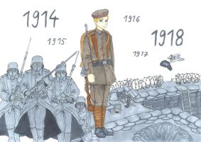 Der Stellungskrieg 1914-18 (the attrition warfare) by xGeschwatzX