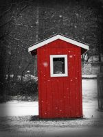 shed in red by wroquephotography