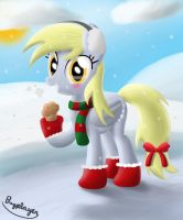 Derpy love Christmas, Quebec banner collaboration by Bugplayer