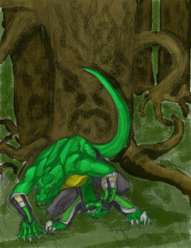 Reptile in the Living Forest by CaTigeReptile
