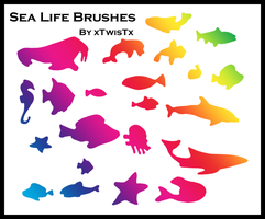Sea Life Brushes by xTwisTx