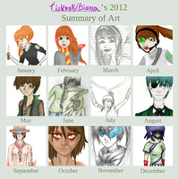 2012 Art Summary by tieknots