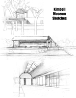 Kimbell Art Museum Sketches by Aileen-Kailum