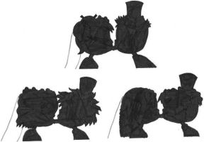 Silhouetted Rugrats Wedding Kisses by nintendomaximus