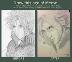 Draw this again! Meme: Cloud Strife by SugarContent