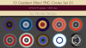 10 Gradient Effect PNG Circles Set 01 by noema-13