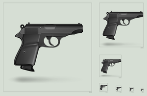 Walther PP black icon by hbielen