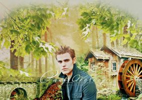 Paul wesley as Stefan by sapo0on