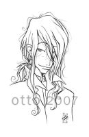HP . Bill Weasley . lineart by porotto