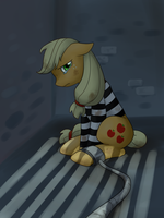 Prison Applejack by norang94