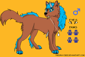 Raikuya Pup for Stardusted 13 by BlackWolf1112-ADOPTS