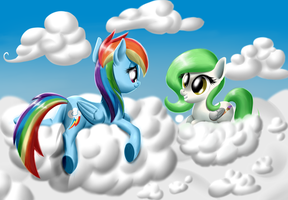 Request: Nelly and Rainbow Dash by MykeGreywolf
