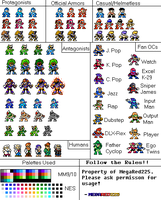 Characters Re-Sprite: Mega Man Classics by MegaRed225