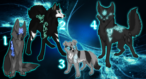 Wolf Adoptables Light Guardians by TaraviAdopts